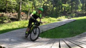 Angelegte Trails ermöglichen uns beim Fahrtechniktraining im Fahrtechnik-Level Basic optimale Übungsbedingungen
