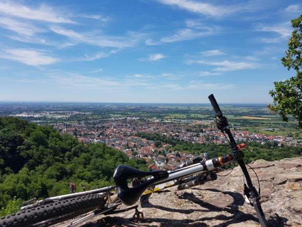 MTB Wochenenende Odenwald Aussicht Schauenburg
