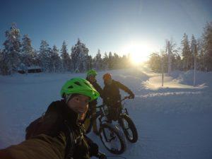 beitune Winterbiken in Lappland mit den E-Fatbikes